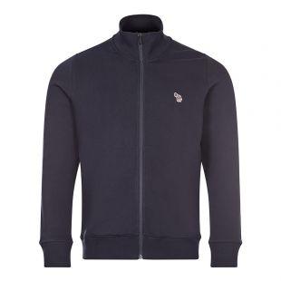 Paul Smith Zebra Logo Zip Sweatshirt | Navy