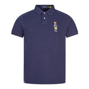ralph lauren polo shirt bear logo navy