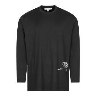 Long Sleeve T-Shirt Graphic Logo - Black