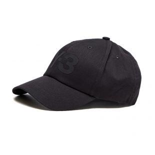 y3 logo cap   HA6530   black