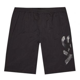 y3 swim shorts logo black GT5251