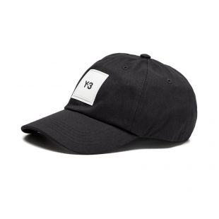 y3 cap square logo   HF2143   black