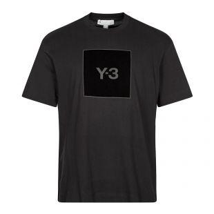 Y3 T-Shirt Graphic Logo   Black   Aphrodite1994