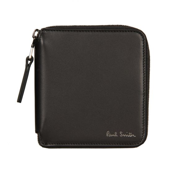 Paul Smith Accessories Zip Around Bilfold Wallet in Black