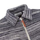 Zipped Cardigan – Navy / Oatmeal