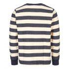 Sweatshirt Ribless - Navy / Ecru Stripe
