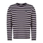 Ami Long Sleeve T-Shirt | H19J106 72 155 Off White / Navy