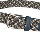 Woven Belt - Blue / Brown