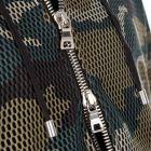 Balmain Mesh Zipped Hoodie - Black / Camo 21185CP -3