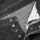 Balmain Monogram Tapered Jeans - Black 21190CP -3