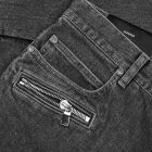 Balmain Monogram Tapered Jeans - Black 21190CP -4