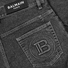 Balmain Monogram Tapered Jeans - Black 21190CP -5