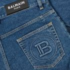 Balmain Monogram Tapered Jeans - Blue  21189CP -3
