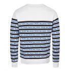 Sweatshirt - White / Navy Striped