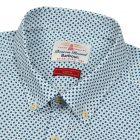 Short Sleeved Patterned Shirt - White