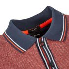 Athleisure Polo Shirt – Navy / Red