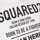 T-Shirt - White Born To Be A Fighter