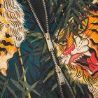 DSquared Jacket Tiger Print  - Black / Orange  21787CP -5