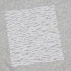 Matchstick Placement T-Shirt - Mottle White