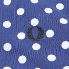 Polka Dot Pique Polo Shirt - Medieval Blue