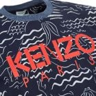 Kenzo T-Shirt - All Over Print Navy  21905CP -3