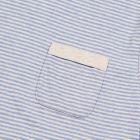 Envelope Pocket T-Shirt - Sky Blue Stripe
