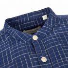 Oliver Spencer Shirt Grandad - Navy 21954CP -3