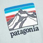 Patagonia T-Shirt Ridge Logo Pocket Responsibili - Blue 21939CP -4