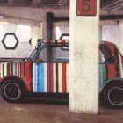 Wash Bag - Car Park Print