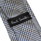 Paul Smith Puppytooth Silk Tie in Sky Blue & Black