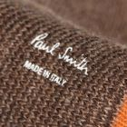 Paul Smith Mainline Ribbed Socks in Brown