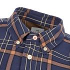 Shirt - Navy / Brown Check