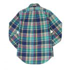 Long Sleeved Checked Shirt - Turquoise
