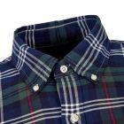 Shirt - Navy / Green Check