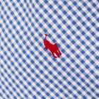Short Sleeve Shirt Gingham - Blue / White