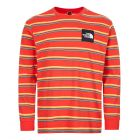 north face long sleeve t shirt boruda NF0A4C9IH8S fiery red