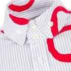 Vivienne Westwood Shirt - Blue Stripe / Red 21124CP -3