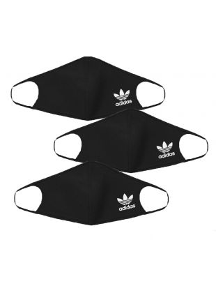 adidas Face Covers 3 Pack   HB7856 Black