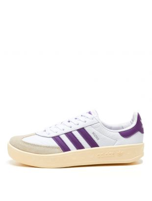 adidas Originals Madrid Trainers   FX5643 White / Purple