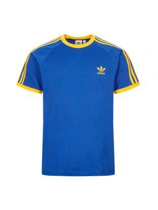 Adidas 3 Stripes T-Shirt | GE6232 Blue | Aphrodite