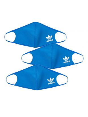 adidas Face Covers 3 Pack   H32391 Blue