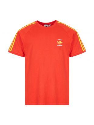 adidas Originals 3 Stripes T-Shirt | GP1919 Red / Espana
