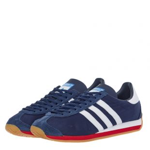 Country OG Trainers – Navy / White / Scarlet