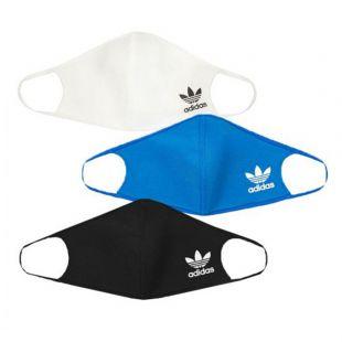 Face Masks 3 Pack - Blue / Black / White