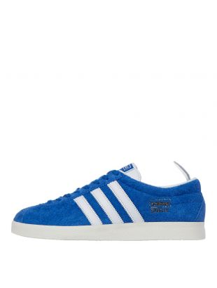 adidas Gazelle Vintage Trainers | FU9656 Blue / Cloud White / Gold Metallic