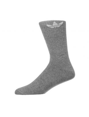 adidas 3 Pack Socks Solid Crew | ED9361 Grey / White