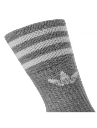 3 Pack Socks Solid Crew – Grey / White