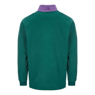 Fleece Half Zip – Green / Purple