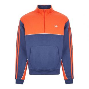 adidas sweatshirt mod half-zip FM1401 navy / orange