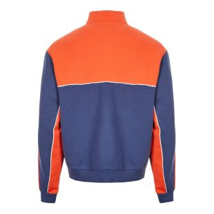 Sweatshirt Mod Half-Zip - Navy / Orange